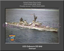USS Ozbourn DD 846 Personalized Canvas Ship Photo Print Navy Veteran Gift