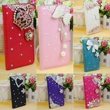 1PC Rhinestone Wallet Leather Bling Case Cover For Samsung Galaxy S5 i9600