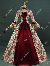 Georgian Victorian Gothic Period Dress Wedding Gown Reenactment Theater Wear 138