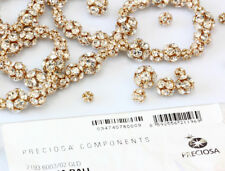 Genuine PRECIOSA Czech Crystal Gold Plated Ball Beads Crystal Color * All Sizes