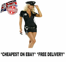 LADIES POLICE FANCY DRESS COSTUME CHEAP SEXY COP HEN OUTFIT HALLOWEEN XSSMLXL