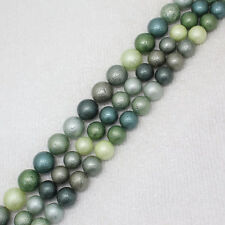 """10-14mm Green Gray Multicolor Shell Bead Mother Pearl Round DIY loose beads 15"""""""