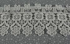"""Ivory Venice Lace Rayon Half Yard (1/2 yd) 3"""" wide floral Pinkismart sewing 14i3"""