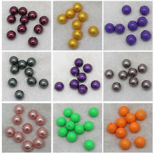 12mm shell Bead mother Pearl Half Hole Round DIY Loose Beads 10pcs