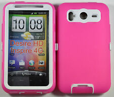 Double Layer Soft / Hard Case for HTC Inspire 4G / Desire HD