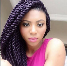 Pre-braided hair extensions, twisted braids