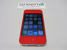Cracked Red Apple iPhone 4s - 16GB - (Unlocked) Clean IMEI Tested