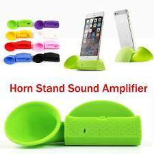 Lovely Portable Silicone Horn Stand Audio Dock Amplifier Speaker For Cell Phones