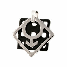 Gay pride Stainless steel Modern Honeycomb Male Mars Pendant Necklace - NEW