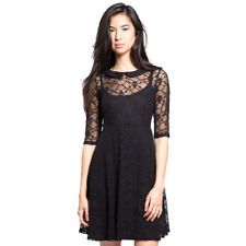 Women's Tripp NYC Skull Lace Dress Black Collared Punk Rock Goth Gothabilly