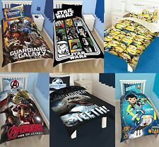 BOYS CHARACTER SINGLE QUILT DUVET COVER & PILLOWCASE BEDDING SETS DISNEY KIDS