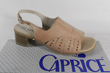 Ladies Caprice Sandal beige, Real leather Leather insole, Leather lining New