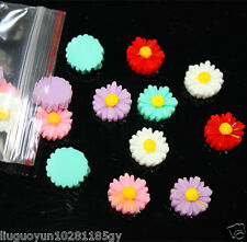 20 Pcs Hot Sunflower Flat Back Resin DIY Mobile Phone Case Decoration Cosmetic