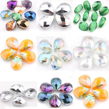 Lots 10/20Pcs Crystal Loose Spacer Beads DIY Charms Pendants Findings 18*14*9mm