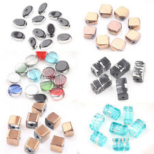 Lots 20Pcs Mixed Crystal Glass Silver Silk Plated Loose Spacer Beads DIY Jewelry