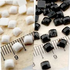 5000 Mosaic Square Pearlized Rhinestone 4mm Black/White Scrapbooking Wedding