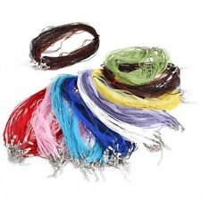 5/20 Pcs Organza Chains Lobster Clasps Necklace Charms Finding String Cord 48cm