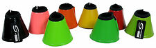 HORSE OVER REACH SOFT NEOPRENE BELL BOOTS DOUBLE VELCRO VARIOUS SIZES & COLOURS
