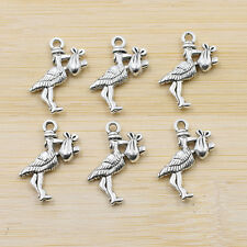 Tibet Silver Rich bird Charms Pendants Cute Antique Beaded Jewelry Findings