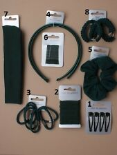 school Hair Accessories Various Colours Black & Green childrens school accessory