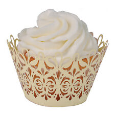 """Paper Orchid Lavish Cupcake Wrapper Ivory, 3-1/4"""" round x 2"""" high"""