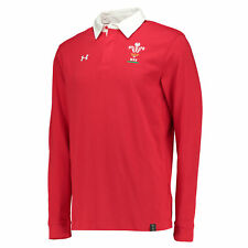 Under Armour Mens Wales Rugby Team Rugby Long Sleeve Jersey Shirt Top Tee Red