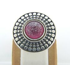 KR023 SIZE 6, 7, 8 NEW AUTHENTIC KAMELEON STERLING SILVER ANTIQUE DISC RING