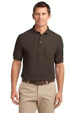 TLK500P Port Authority Tall Silk Touch Polo with Pocket Men's Knit Shirt NEW