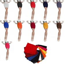 Womens Girls RIBBED BANDAGE BODYCON STRETCH PANEL MINI SKIRT PARTY CLUBWEAR