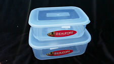 plastic food container with lid lunch box storage 3 & 4.5 litre beaufort