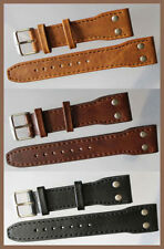 22mm Aviator Watch Strap Extra Strong Genuine Leather