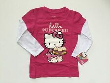NEW SANRIO HELLO KITTY FAUX LAYER GRAPHIC TOP SIZE 2T 3T 4T
