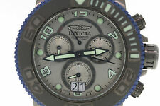 Men's Invicta 10716 Sea Hunter Pro Diver Chronograph Grey Dial Leather Watch