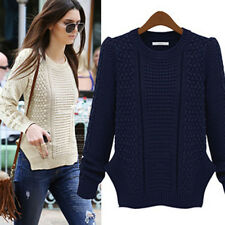 1x Fashion Autumn Winter Women Sweater Slim Pullover Casual Top Knitted WUS