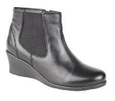 Mod Comfys Leather Inside Zip/Elastic Gusset Ankle Boots