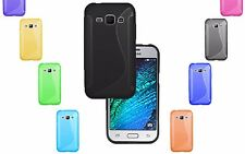 S-Line Wave TPU Soft Silicone Gel Grip Back Case Cover For Samsung Galaxy J1 UK