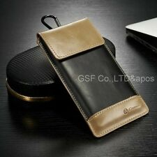 100% Genuine Leather Wallet Carry Pouch Sleeve Card Case Belt Clip Holster NEW