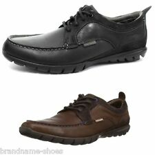 MENS HUSH PUPPIES SHUTTLE OXFORD BLACK BROWN LEATHER LACE UP FORMAL DRESS SHOES