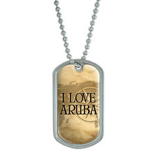 Dog Tag Pendant Necklace Chain Country Ab-Bu