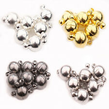 6/8/10mm 5/10Set Silver Gold White K Gun Black Ball Round Strong Magnetic Clasps