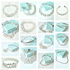 Ladies Bracelets Silver Plated Hearts Link Chains Buckle Bracelet approx 8ins