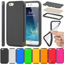 Dual-Layer Rugged Rubber Case Cover w/ Built-in Film for iPhone 6s / 6s Plus