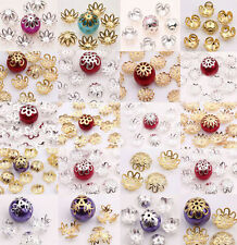8/9/10/14/16mm New Silver/Gold Metal Flower Spacer Bead Caps Jewelry Finding