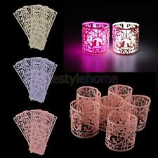 6pcs Paper Lantern Holders For LED Tea Light Candles Wedding Party Decorations