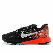 WMNS Nike Lunarglide 7 [747356-014] Running Black/White-Copa-Hyper Orange