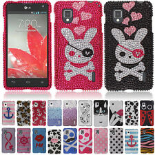 For LG Optimus G LS970 Eclipse 4G LTE Love Infinity Bling Stone Hard Case Cover