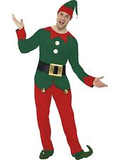 Adult Mens Elf Costume Smiffys Xmas/Christmas Fancy Dress - 2 Sizes