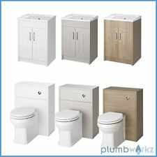 Traditional Back to Wall BTW WC Pan Toilet Cabinet & Basin Vanity Unit