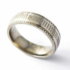 NEW stainless steel wedding Band ring Mens Womens Gold Filled ring Size 8-12