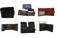 NEW MENS LUXURY SOFT BUSINESS LEATHER BIFOLD WALLET CREDIT CARD HOLDER PURSE